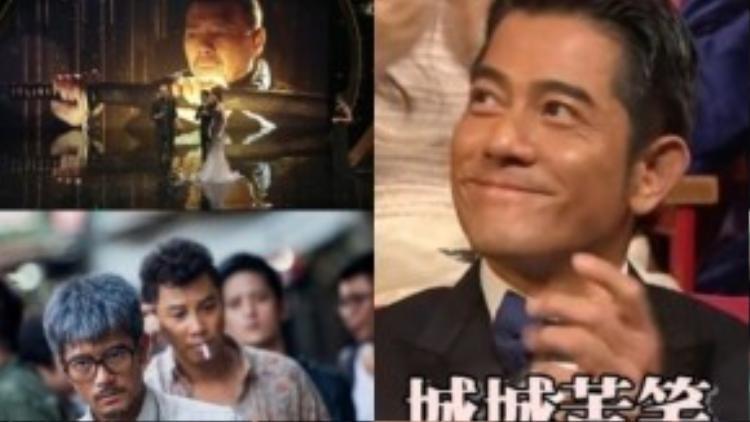 Quách Phú Thành vỗ tay khi Phùng Tiểu Cương nhận giải Nam diễn viên xuất sắc.