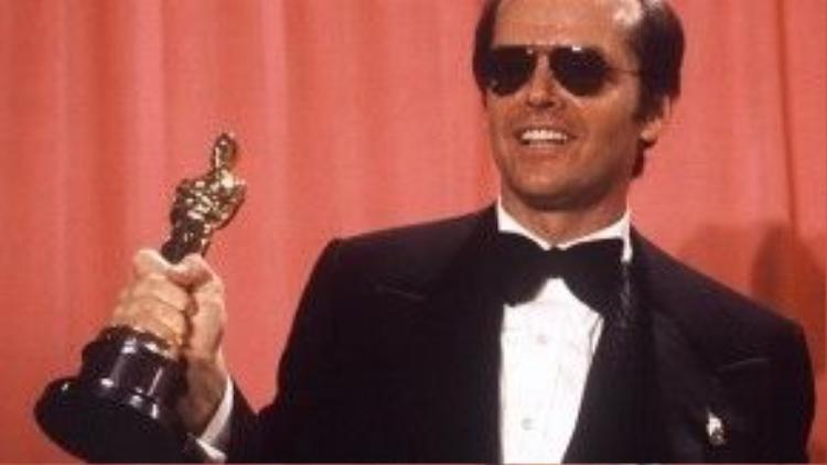 Jack Nicholson đã 12 lần được đề cử Oscar danh giá, huyền thoại đương đại thắng ba giải trong số đó.