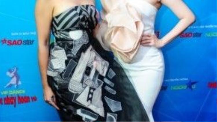 Hai giám khảo nữ Trần Ly Ly và Khánh Thi