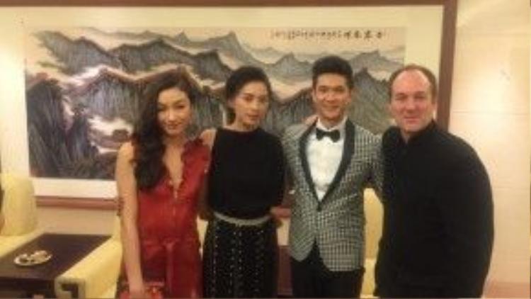 Ngô Thanh Vân xuất hiện trong buổi ra mắt phim Ngọa hổ tàng long 2 ở Trung Quốc.