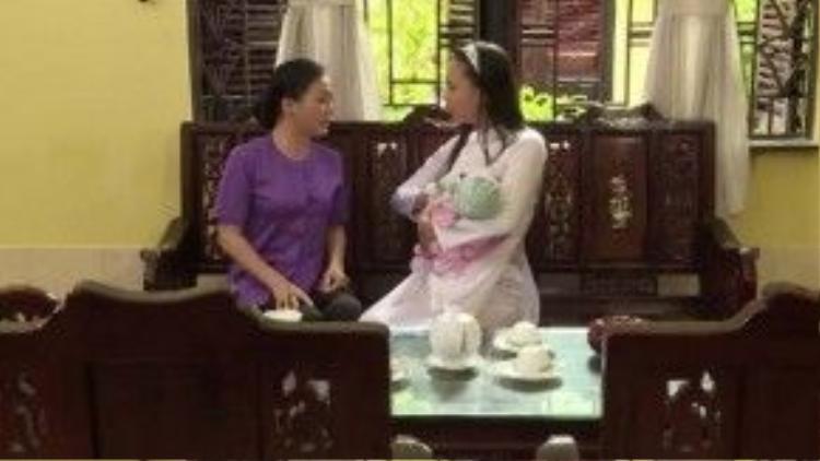 Thiên Trang giờ đã suy nghĩ chín chắn hơn, trở thành chỗ dựa và sự giúp đỡ lớn lao của Trinh Trinh