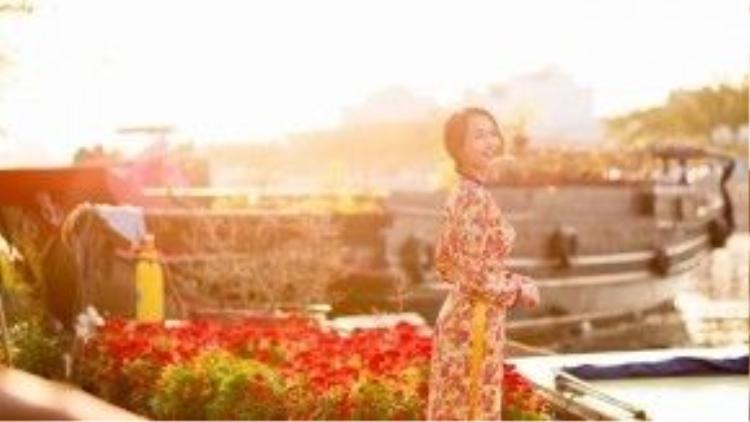 Nhung Gumiho cho biết cô nàng rất yêu dịp Tết, vì đây là khoảng thời gian được sum vầy cùng gia đình.