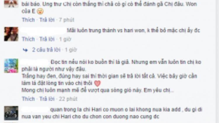 Cộng đồng Star Fam luôn ủng hộ Hari