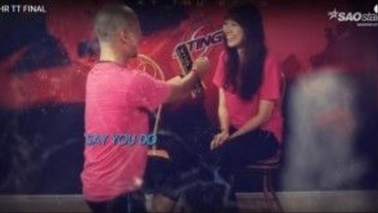 """Say you do: Tiến Đạt tỏ tình với Hari Won: """"Hãy làm """"bà già"""" của anh nhé""""."""