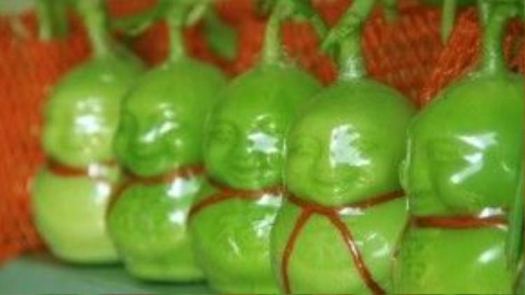 Dưa lê Thần Tài được xem là mặt hàng trưng Tết bán chạy nhất mùa Tết năm nay.