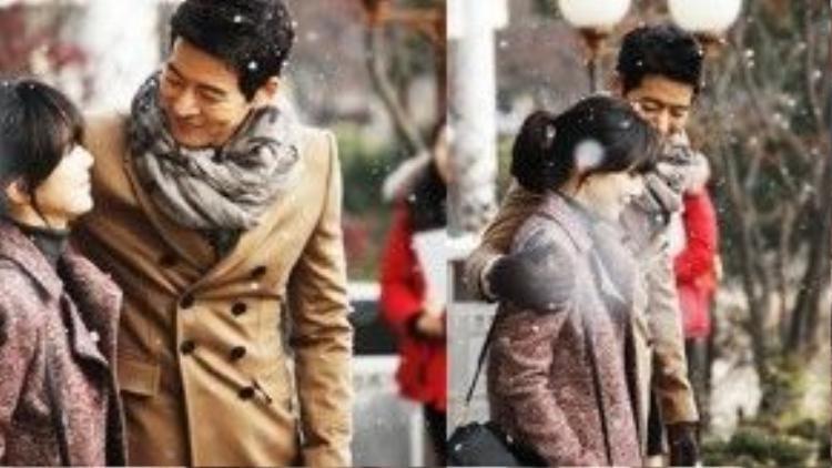 """Khoảnh khắc đẹp của Kang Woo Jae (Lee Sang Yoon) và Lee Seo Young (Lee Bo Young) trong """"My Daughter Seo Young"""" đã làm cho khán giả say lòng."""