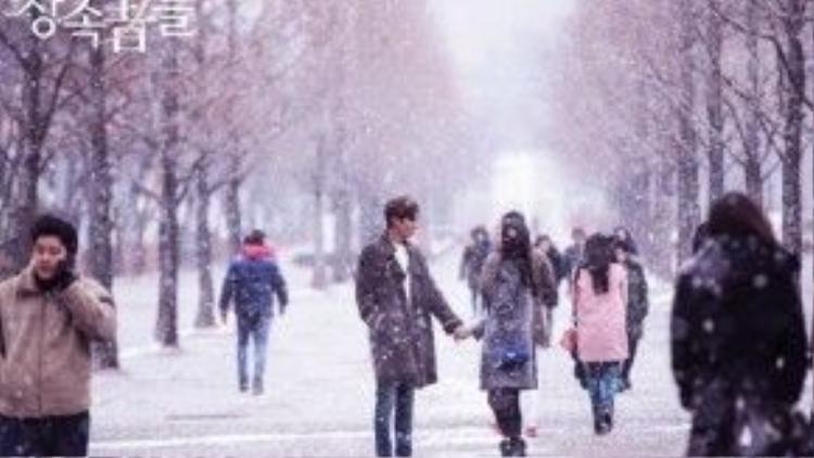 """Hình ảnh người thừa kế Kim Tan (Lee Min Ho) dạo bước dưới trời tuyết cùng Cha Eun Sang (Park Shin Hye) đã giúp """"The Heirs"""" (Những người thừa kế) khép lại một cách trọn vẹn."""