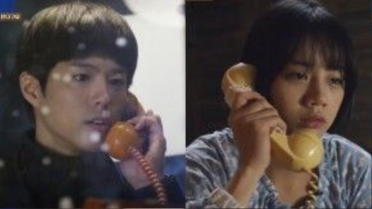 """Phân đoạn Sung Deok Sun (Hyeri) và Taek (Park Bo Gum) trò chuyện điện thoại vào ngày đầu tiên tuyết rơi tuy không quá đặc sắc nhưng vẫn đọng lại nhiều cảm xúc trong lòng các fan ruộc của """"Reply 1988"""" (Lời hồi đáp 1988)."""