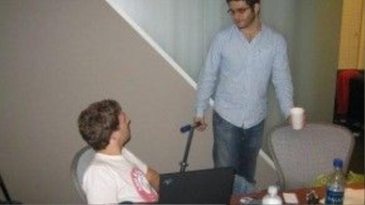 Mark Zuckerberg và người bạn thân Dustin. Họ vẫn dành tình cảm tốt đẹp cho nhau dù không còn hoạt động chung.