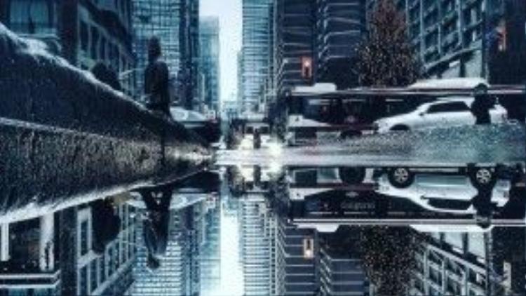 Bức ảnh khiến bạn phải định thần một lúc mới phân định được rạch ròi liệu có phải ở dưới mặt đất có một thành phố y hệt như thế hay không.