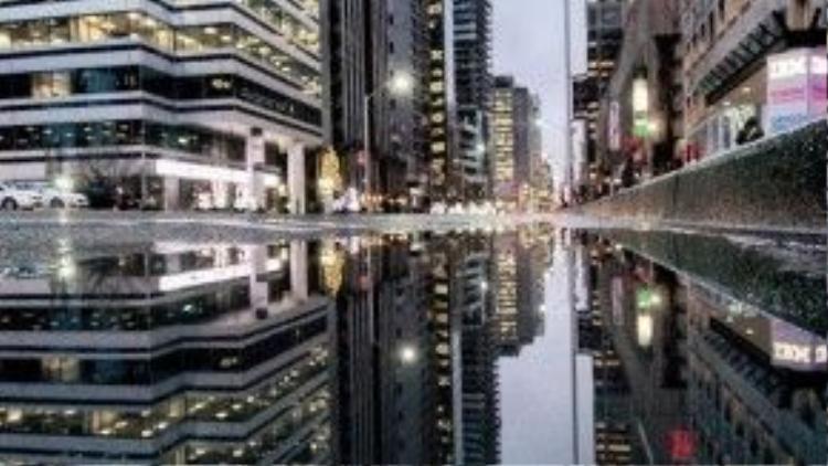 Người xem có cảm tưởng như đang được ngắm nhìn một thành phố trên sông vậy.