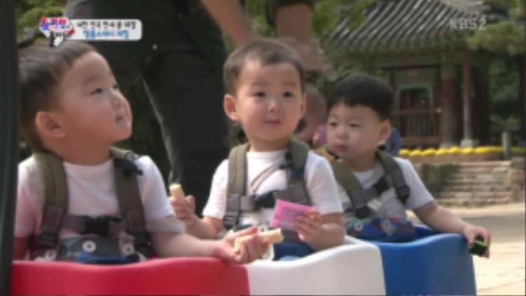 Daehan, Minguk và Manse là 3 ngôi sao nhí của chương trình trong gần 2 năm lên sóng.