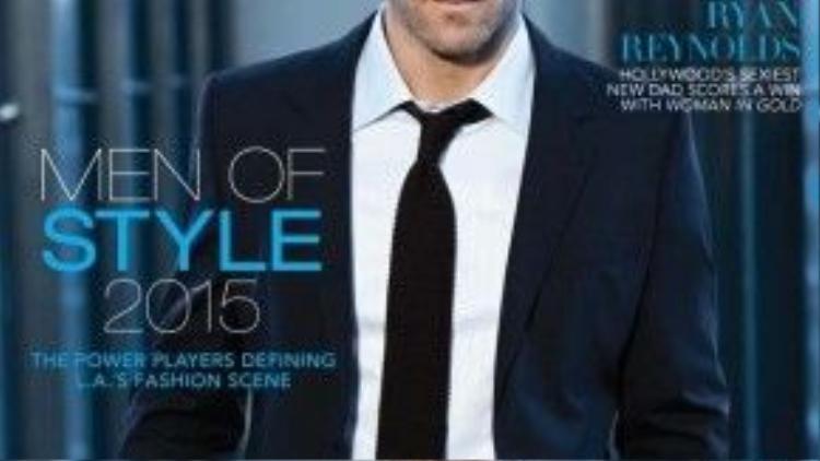 """Lời khen tặngtrên tạp chí ANGELENO dành cho Ryan: """"Ông bố trẻ ghi điểm với bộ phim """"Woman In Gold""""."""
