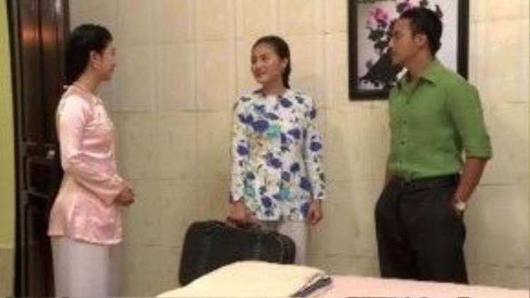 Cô ngang nhiên đề nghị được cùng chung sống với Trinh Trinh chứ không chịu cảnh vợ hờ nữa.