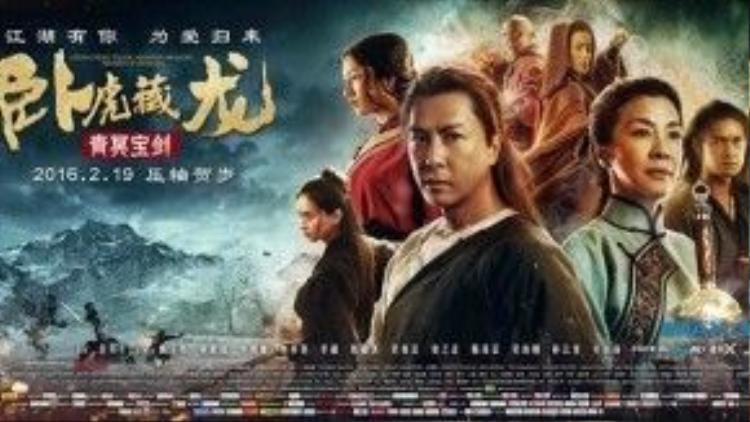 Poster chính thức của Ngọa hổ tàng long 2 có sự xuất hiện của Ngô Thanh Vân.