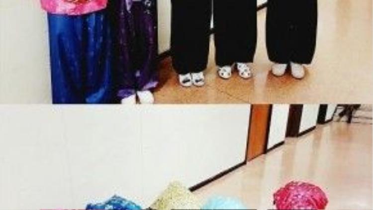 Boyband IMPACT trong trang phục hanbok đầy màu sắc.