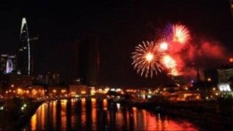 TP.HCM sẽ bắn pháo hoa tại 4 điểm để chào đón Tết Nguyên đán 2016.