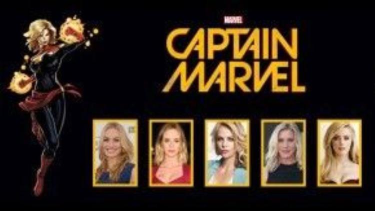 """Những ngôi sao được người hâm mộ bình chọn là phù hợp với vai nữ chính trong """"Captain Marvel""""."""
