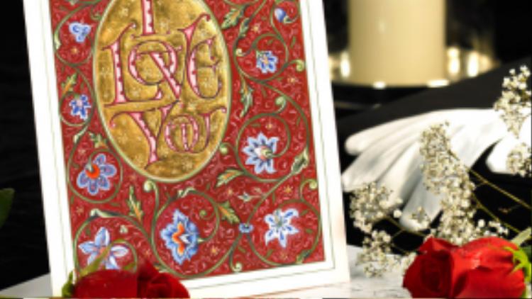 """Thiệp Valentine làm bằng tay của thương hiệu sang chảnh Gilded Age cũng có giá """"mềm"""" không kém, chỉ khoảng 395 USD (hơn 8 triệu 7)."""