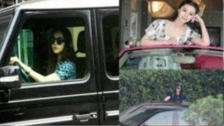 Nữ diễn viên có bộ sưu tập xe.
