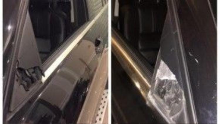 """Mercdes-Benz GLK300 bị """"vặt gương"""" tại Hà Nội. Ảnh: Tờ Rung/Otofun"""