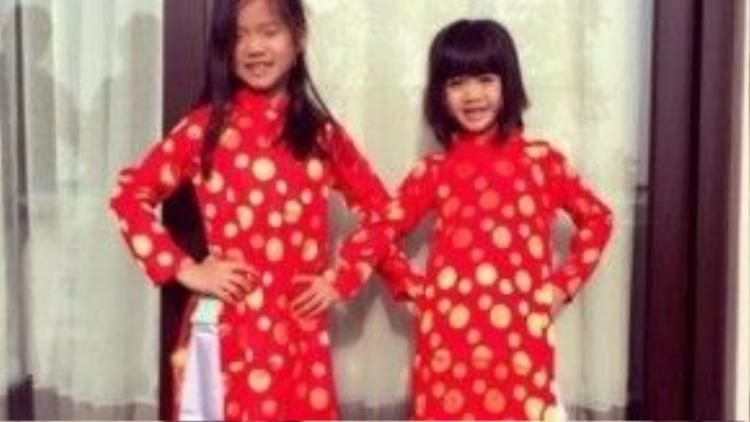 Hai con gái của Chung Lệ Đề.