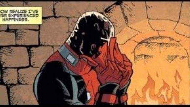Một trong những khoảnh khắc lạc lõng của nhân vật truyện tranh này.