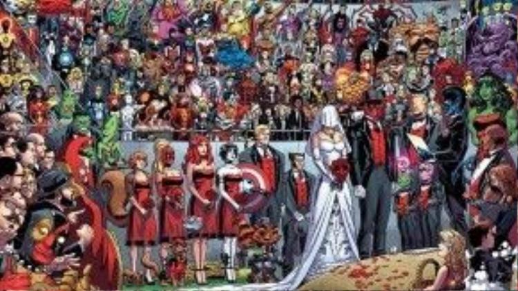 """Ban đầu đám cưới đã không định """"làm to"""" thế này, nhưng nỗ lực của Marvel đã biến nó thành một sự kiện quan trọng thực sự."""