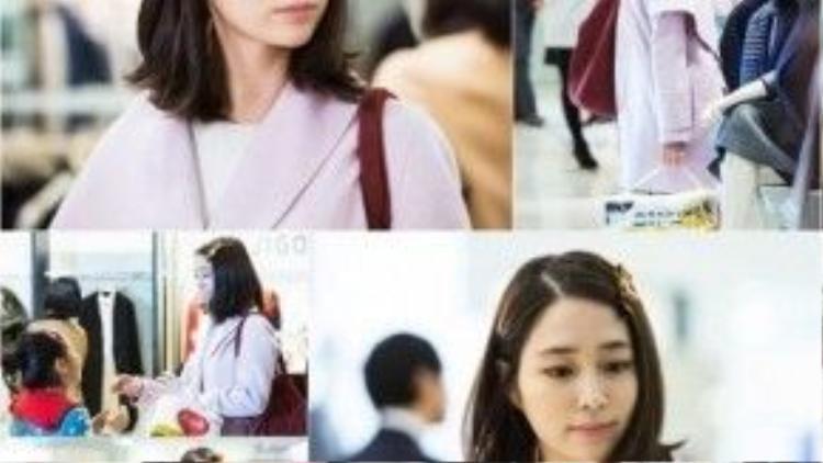 Lee Min Jung vào vai người vợ hiền đảm đang không may trở thành góa phụ.