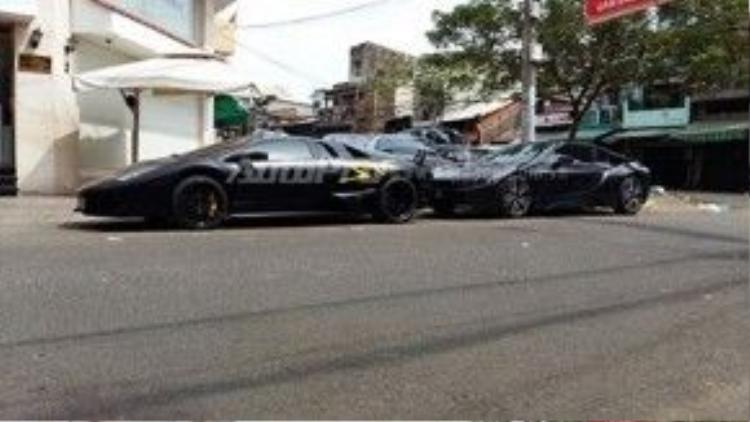 """Theo một số nguồn tin, chiếc siêu xe Lamborghini Murcielago LP670-4 SV của đại gia Minh """"Nhựa"""" có giá gần 22 tỷ đồng ngay khi về nước. Giá tương ứng của chiếc BMW i8 dao động từ 6 đến 8 tỷ đồng."""