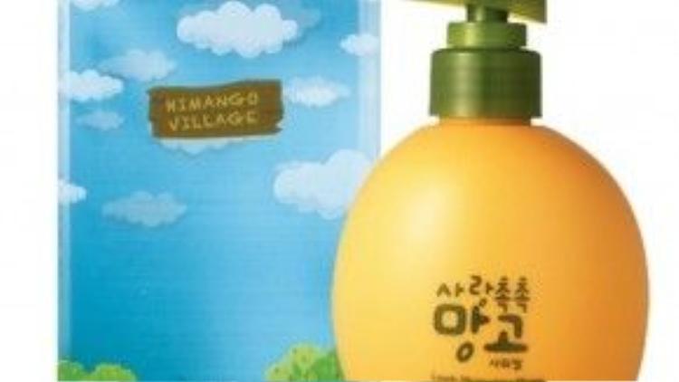 Himango Lovely Moisturizing Mango Body Lotion - The Face Shop mang bao bì màu cam vàng nhạt trông cực đáng yêu, kèm theo mùi hương vô cùng ngọt của xoài sẽ khiến bạn thích mê ngay từ lần đầu sử dụng.