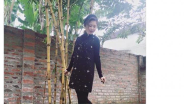 Hương Tràm khoe ảnh khi về thăm quê Nội trong những ngày đầu năm.