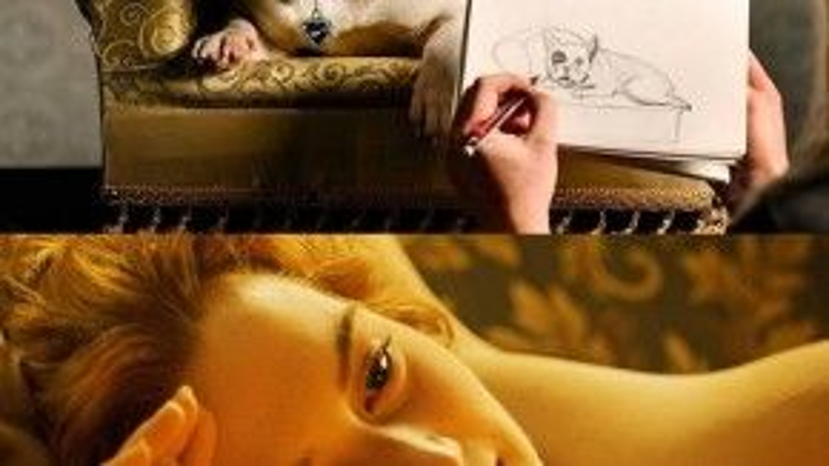 """""""Hãy vẽ tui như một chú chó Pháp đi nào, cô chủ"""". Thật dễ dàng để nhận ra khung cảnh lãng mạn này của nàng Rose và chàng Jack trong phim Titanic."""