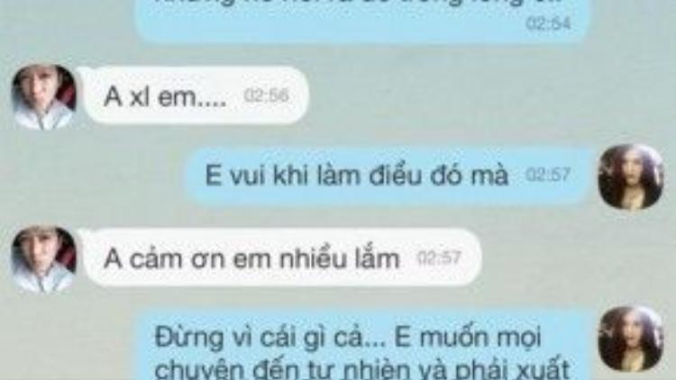 Loạt hình ảnh tin nhắn với Trường Giang mà Quế Vân đã tung lên Facebook