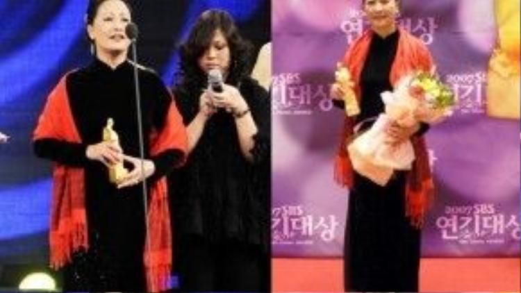 NSND Như Quỳnh nhận giải thường tại Hàn Quốc.