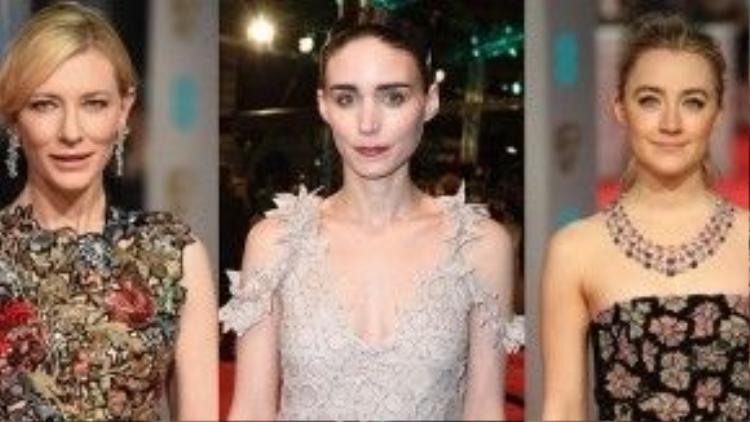 Cate Blanchett, Rooney Mara và Saoirse Ronan.