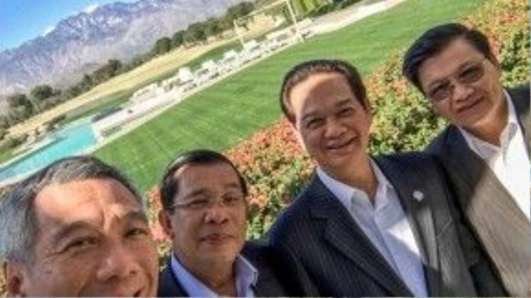 Bức hình wefie của Thủ tướng Singapore Lý Hiển Long chụp cùng Thủ tướng Nguyễn Tấn Dũng, Thủ tướng Campuchia Hunsen và Bộ trưởng Ngoại giao Lào vừa xuất hiện vào ngày hôm nay (17/2) và lập tức tạo một cơn sốt trên mạng xã hội. Nó được chụp bên lề Hội nghị Mỹ - ASEAN đang diễn ra tại Sunnylands, bang Californina, Mỹ.