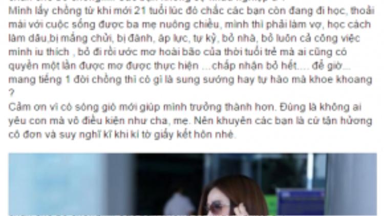 Vợ cũ Hồ Quang Hiếu chia sẻ những khó khăn khi làm dâu ở tuổi 21.