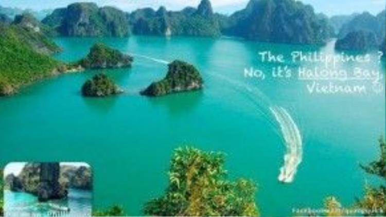 Palawan của Phillipins ư? Không, đây là Vịnh Hạ Long Việt Nam. Nơi được UNESCO công nhận là một trong những kỳ quan của thế giới.