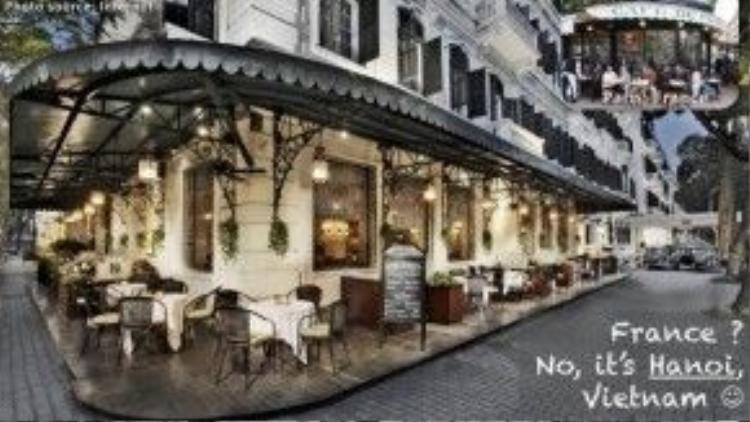 Pháp? Không, thực ra đây là một góc phố Hà Nội, nơi vẫn còn in dấu nhiều kiến trúc thuộc địa từ trước những năm 1945.