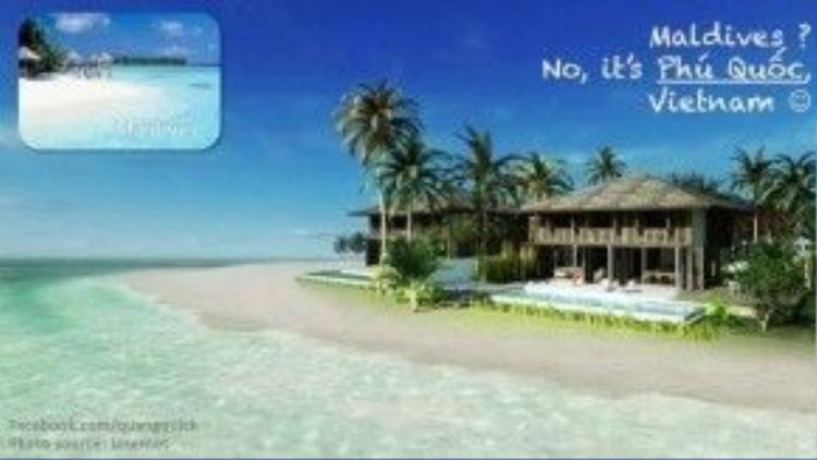 Maldives? Không, đây là bãi biển Phú Quốc (tỉnh Kiên Giang).