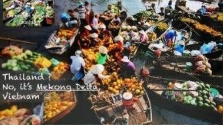Thái Lan à? Không, đây là chợ nổi Cái Răng (Tp.Cần Thơ) đấy!