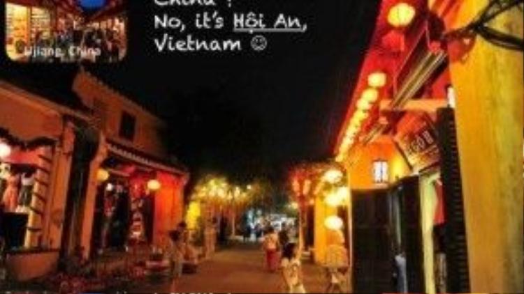 Lại là Trung Quốc? Không, đây là phố cổ Hội An (tỉnh Quảng Nam).