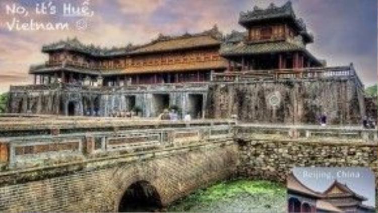 Cổng Ngọ Môn thuộc Huế (Việt Nam).