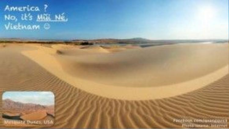 Mũi Né với những đụn cát vàng không khác gì Mesquite Dunes (Mỹ).