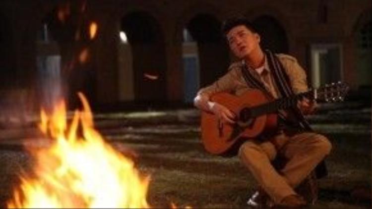 Một phân cảnh lãng mạn của Mr.Đàm trong phim ngắn Tuổi hồng thơ ngây.