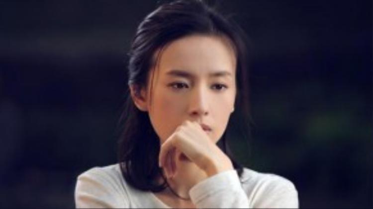 Hình tượng ngọc nữ của Đổng Khiết bị bôi đen.