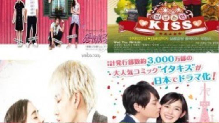 Các phiên bản Itazura na Kiss của các nước: Đài Loan, Hàn Quốc, Thái Lan, Nhật Bản
