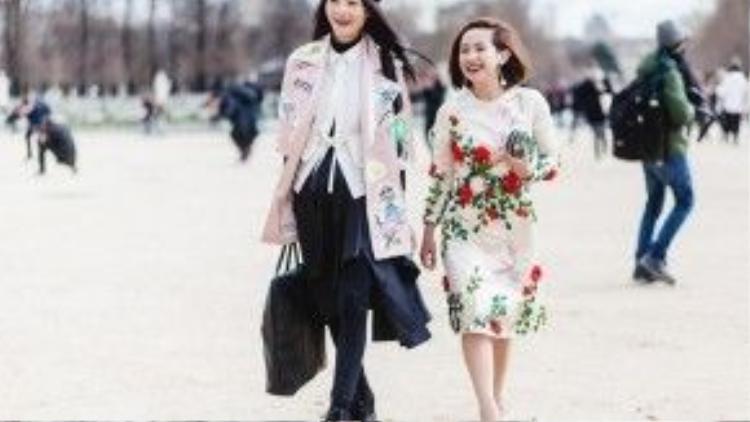 Trâm Nguyễn cũng có sự gặp mặt với chân dài Trang Nguyễn, sự gặp mặt của những người yêu thích thời trang tại vùng đất xa xôi khiến họ trở nên thân thiết và gần gũi nhau hơn.