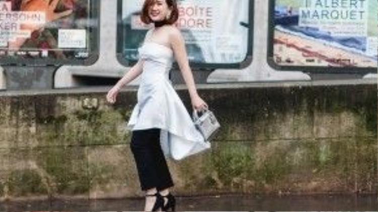 Trâm Nguyễn - một tín đồ thời trang kiêm doanh nhân 8x được rất nhiều bạn trẻ Sài Gòn biết đến, cũng chính là gương mặt nổi bật với phong cách thời trang đường phố độc đáo, có chất riêng.